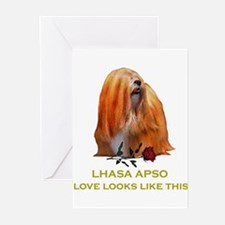 Lhasa Apso Valentine Love Looks Tyger Greeting Car