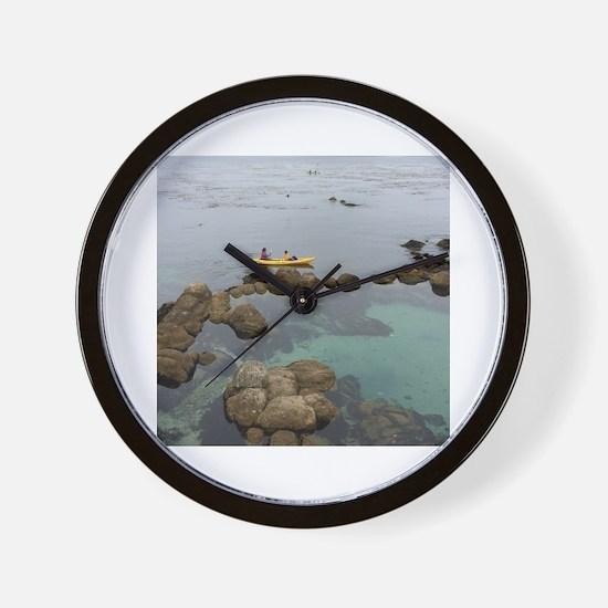 Cute Carmel beach Wall Clock