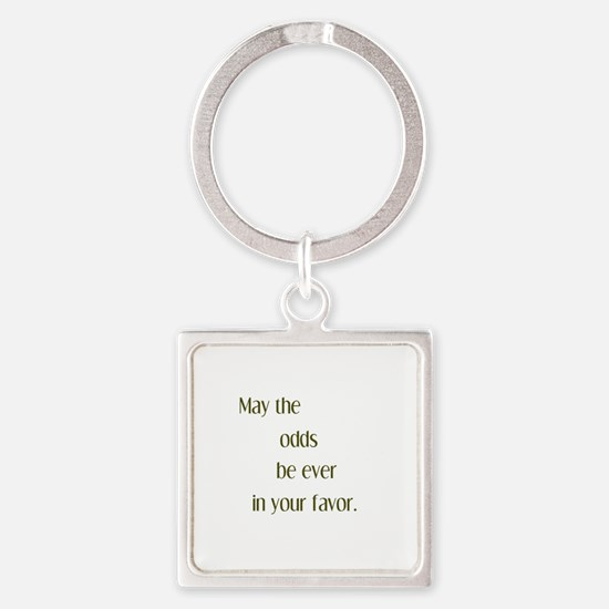 Odds Favor Square Keychain