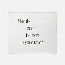 Odds Favor Throw Blanket