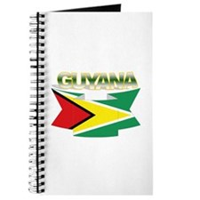 Guyana flag ribbon Journal