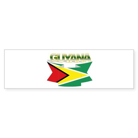 Guyana flag ribbon Bumper Sticker