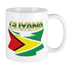 Guyana flag ribbon Small Mug