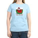 Oops I ate a watermelon seed. Women's Pink T-Shirt