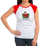 Oops I ate a watermelon seed. Women's Cap Sleeve T
