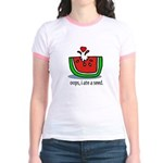 Oops I ate a watermelon seed. Jr. Ringer T-Shirt