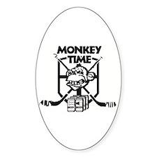 Monkey Time Hockey Oval Decal