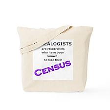 Genealogy Losing Census (Purple) Tote Bag