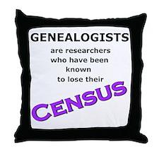Genealogy Losing Census (Purple) Throw Pillow