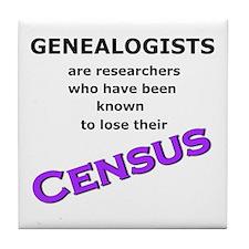 Genealogy Losing Census (Purple) Tile Coaster