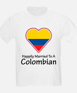 Happily Married Colombian Kids T-Shirt
