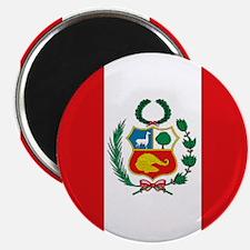 "Peru's flag 2.25"" Magnet (10 pack)"