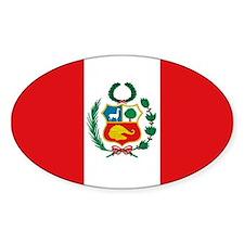 Peru's flag Oval Decal