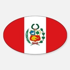 Peru's flag Oval Decal
