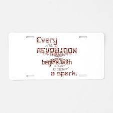 Revolution Spark Aluminum License Plate