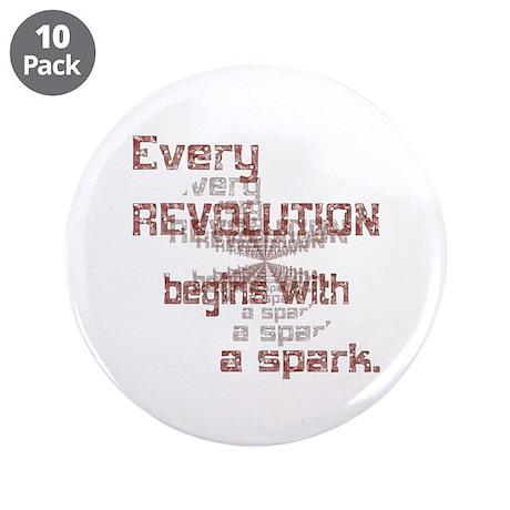 "Revolution Spark 3.5"" Button (10 pack)"