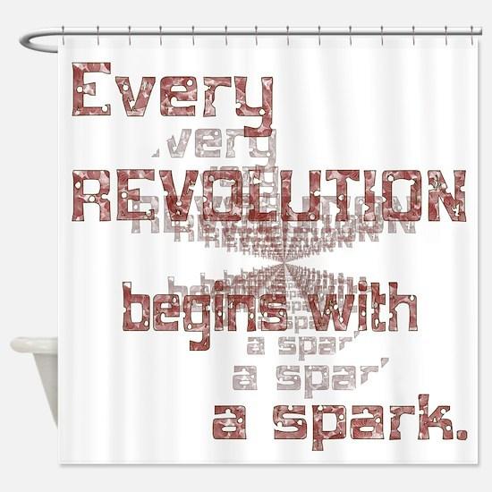 Revolution Spark Shower Curtain