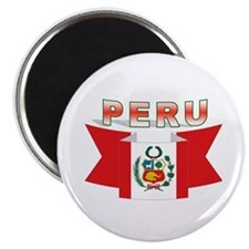 The flag of Peru ribbon Magnet