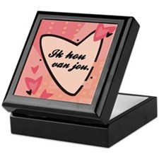 I Love You in Dutch Keepsake Box
