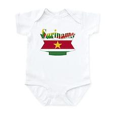 Suriname flag ribbon Infant Bodysuit