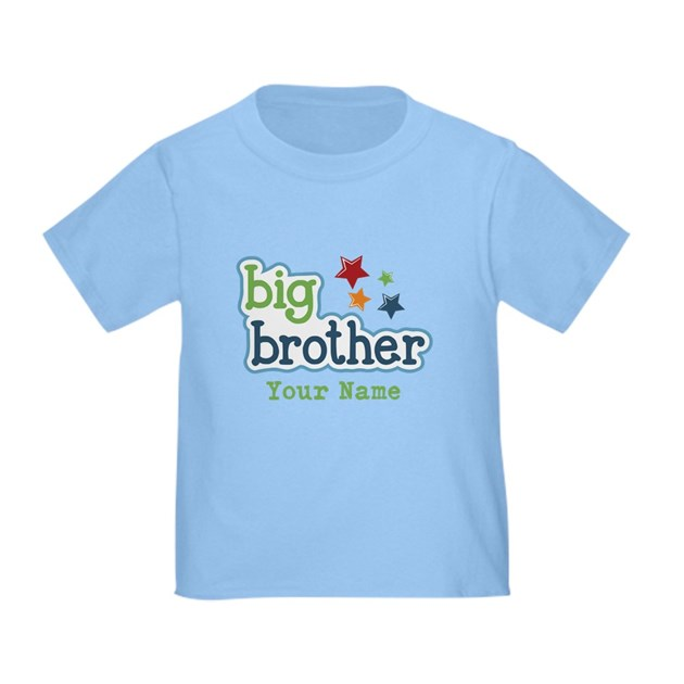Personalized big brother t by familyemporium for Big brother shirts for toddlers carters