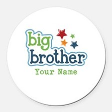 Personalized Big Brother Round Car Magnet