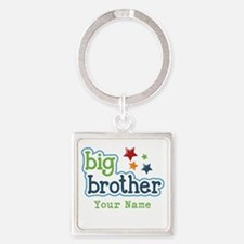 Personalized Big Brother Square Keychain