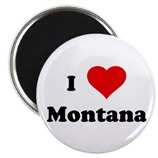 I Love Montana Magnet