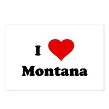 I Love Montana Postcards (Package of 8)