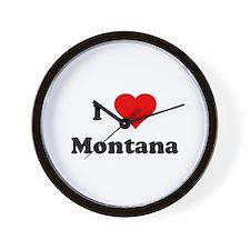 I Love Montana Wall Clock