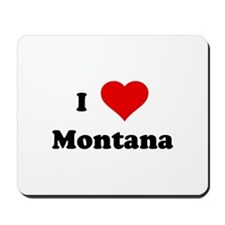 I Love Montana Mousepad
