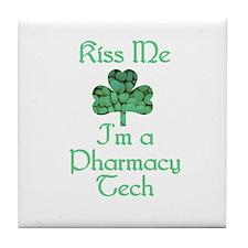 Kiss me I'm a Pharmacy Tech Tile Coaster