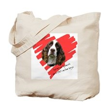 Love on 4 Legs w/URL Tote Bag