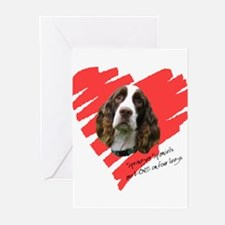 Love on 4 Legs w/URL Greeting Cards (Pk of 10)