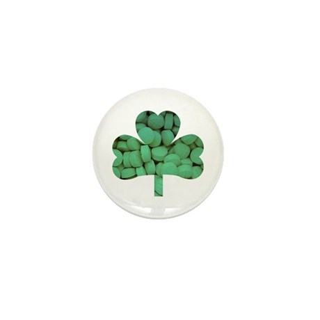 Tablet Shamrock Mini Button