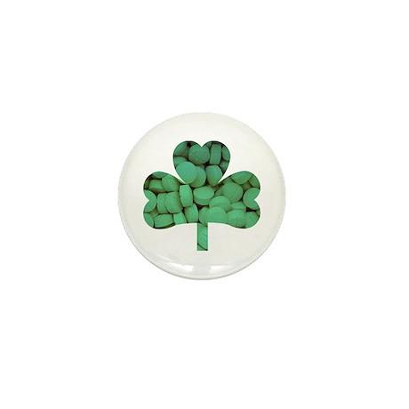 Tablet Shamrock Mini Button (10 pack)