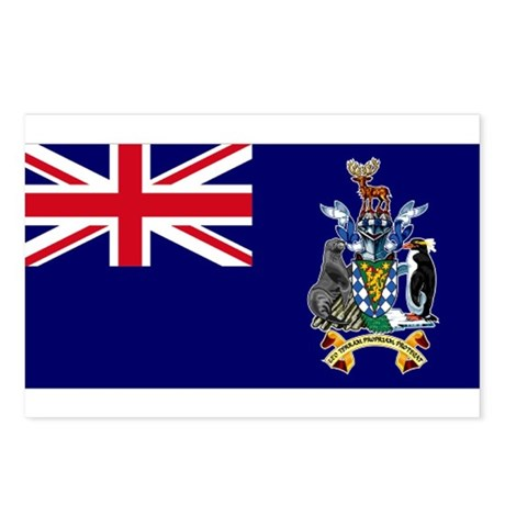 South Georgia Islands flag Postcards (Package of 8