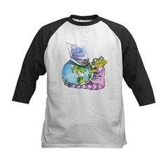 I Leap, Therefore I am! Kids Baseball Jersey