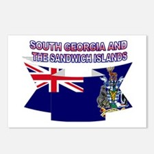 South Georgia Islands flag Postcards (Package of