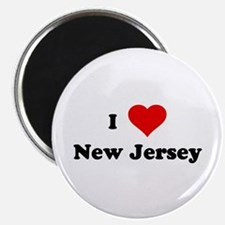 """I Love New Jersey 2.25"""" Magnet (100 pack)"""