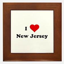 I Love New Jersey Framed Tile