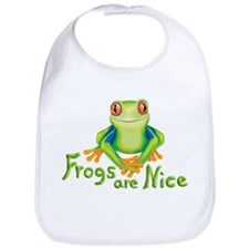 Frogs are Nice Bib