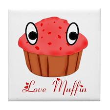 Valentine's Day Love Muffin Tile Coaster