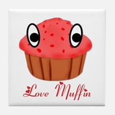 Valentine's Day Love Muffin Tile Coaster