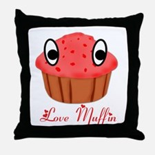 Valentine's Day Love Muffin Throw Pillow