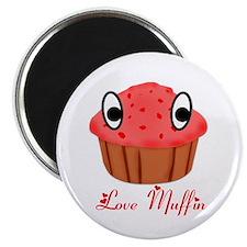 Valentine's Day Love Muffin Magnet
