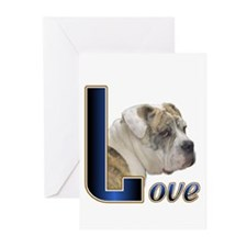 English Bulldog Love Greeting Cards (Pk of 10)