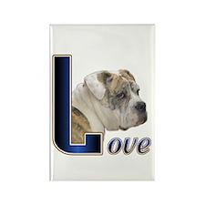 English Bulldog Love Rectangle Magnet (10 pack)