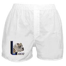 English Bulldog Love Boxer Shorts