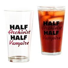 Half Archivist Half Vampire Drinking Glass